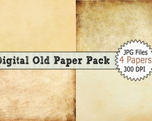 Digital Image Download of Digital Old Paper Pack for Background