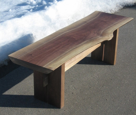 Live Edge Walnut Bench Or Coffee Table By ClassicWoodworksofMI