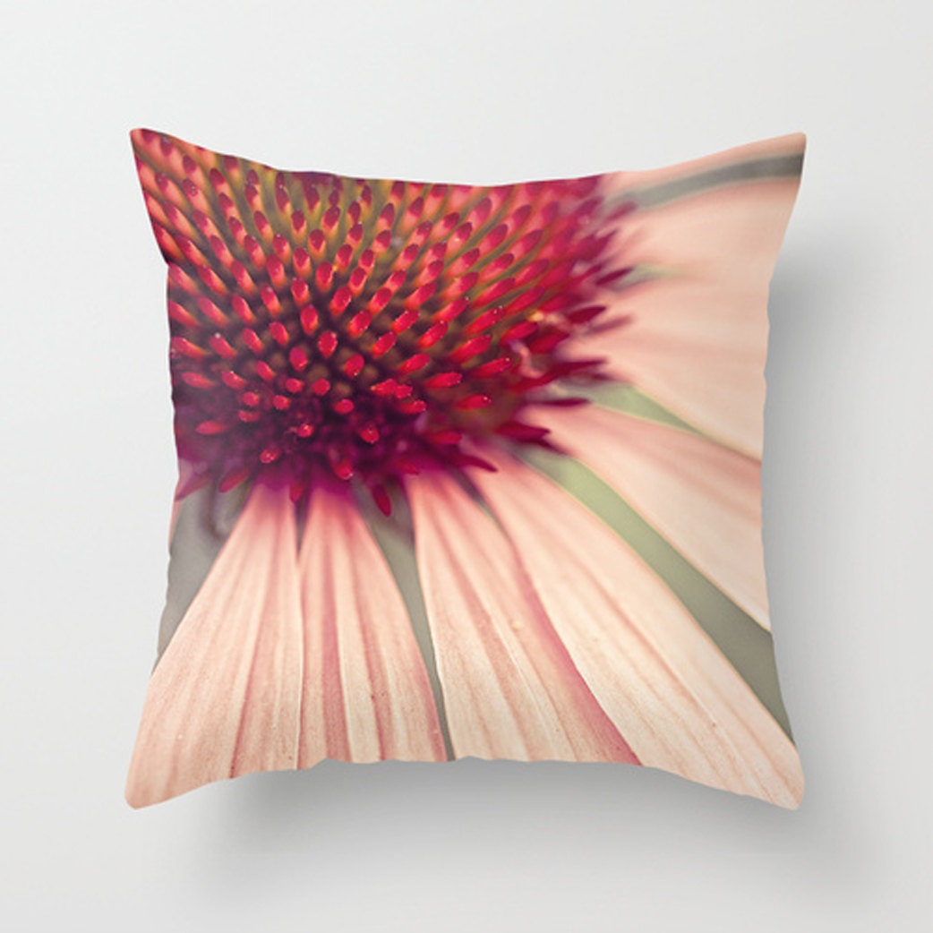 Decorative Pillows Flowers : Decorative Pillow Flower Pillow echinacea plush pillow