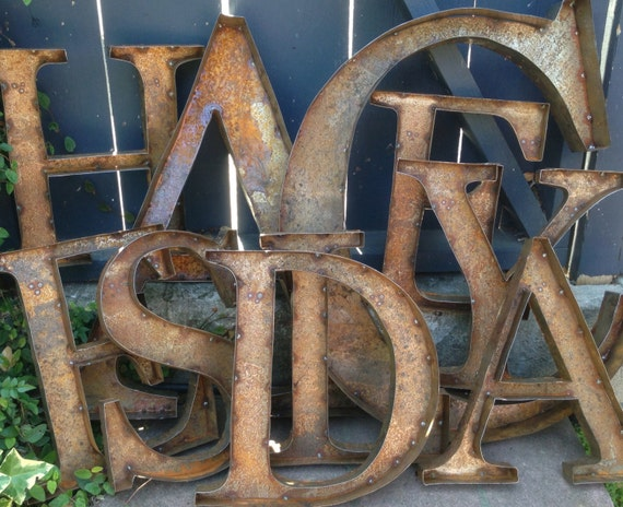 small metal letters rustic metal letters small 3 letter nursery by 24901