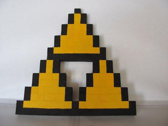 8 bit triforce wall decor for 8 bit decoration