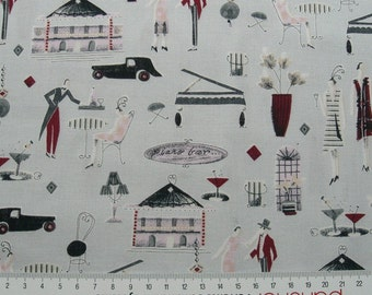"""0,5 m Printed fabric """"Paris"""" 150 cm w."""
