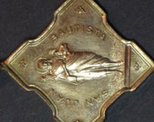 Vintage Art Nouveau Saint John the Baptist Pendant Medal