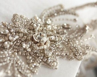 Bridal Garter Set  - Feuilles  (Made to Order)