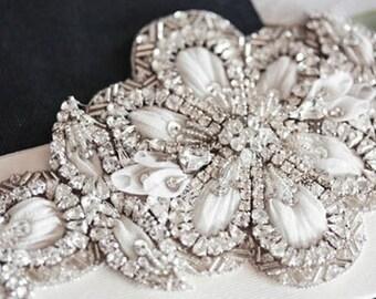 Magnolia wedding dress sash - Magnolia  (Made to Order)