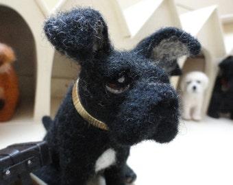 needle felted dog called Jack