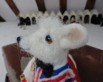 needle felted mouse called William
