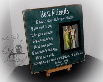 Unique Wedding Gift For Best Friend : Best Friends, Bridesmaid, Sister, M aid of Honor Gift, Personalized ...