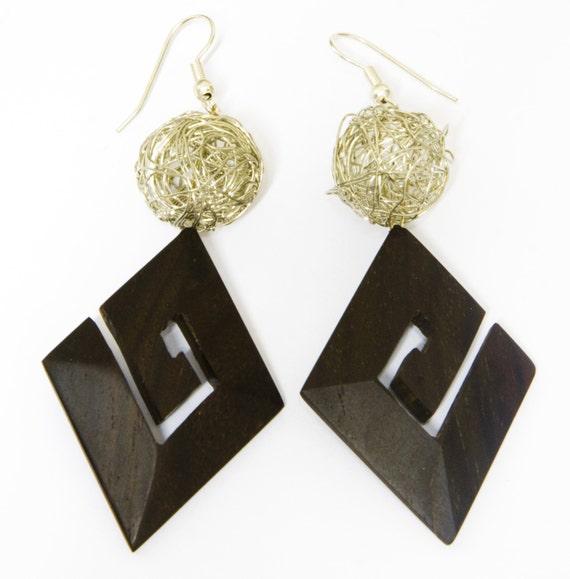 items similar to handmade wooden earrings on etsy