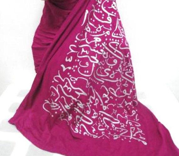 Arabic Calligraphy Hijab Scarf