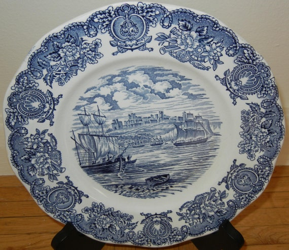 Historical Ports of England- Port of Dover Scalloped Collectible Plate Vintage