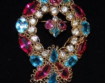 signed large robert pin/brooch with filigree