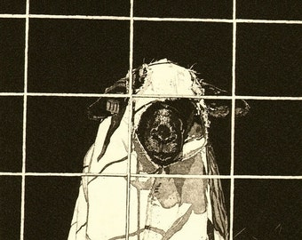 Sheep in Sheep's Clothing - Original Etching
