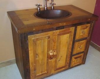 Reclaimed Wood Bathroom Vanity