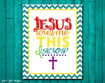 Jesus Loves Me Wall Art. Childrens Decor. Jesus Loves Me This I Know. Christian Decor. Christian Wall Art. Christian Nursery.Scripture Art.