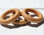 Wooden Teething Ring - Set of Three - Montessori Inspired (Pacifier)