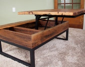 Items Similar To Coffee Table Reclaimed Barn Board Lift Top Wood Metal On Etsy