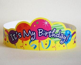 It's My Birthday Paper Crown - Printable