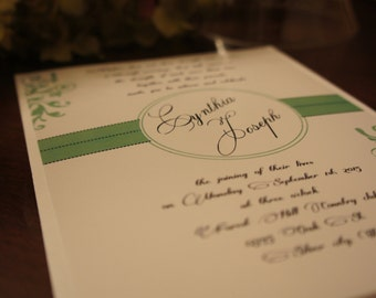 wedding invitations,  invitation invites invite  Georgous Monogram Script Ivy available in any color  RSVP and reception