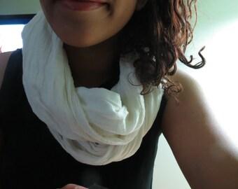 White Cotton Scarf