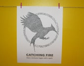 Hunger Games - Catching Fire Logo - Word Portrait- Print