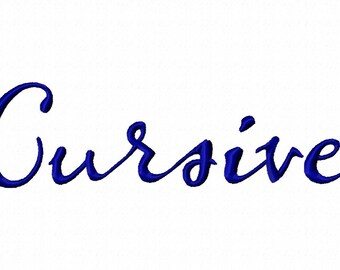 Cursive Machine Embroidery Fonts 1180
