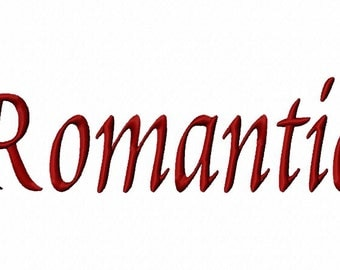 Romantic Machine Embroidery Fonts 1202