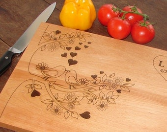 wedding Cutting Board Couple's Anniversary Gift  Wedding Gift Bridal Party Present House Warming Party or Hostess Gift