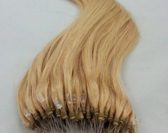 18inches 100grs,100s,Micro Loop(Rings) Human Hair Extensions 24  Light Blonde