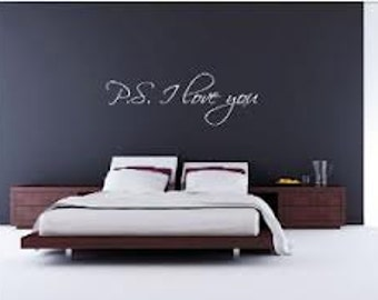 P. S. I Love you Wall Decal
