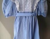 vintage SIMI girls dress size 4 1980's lace