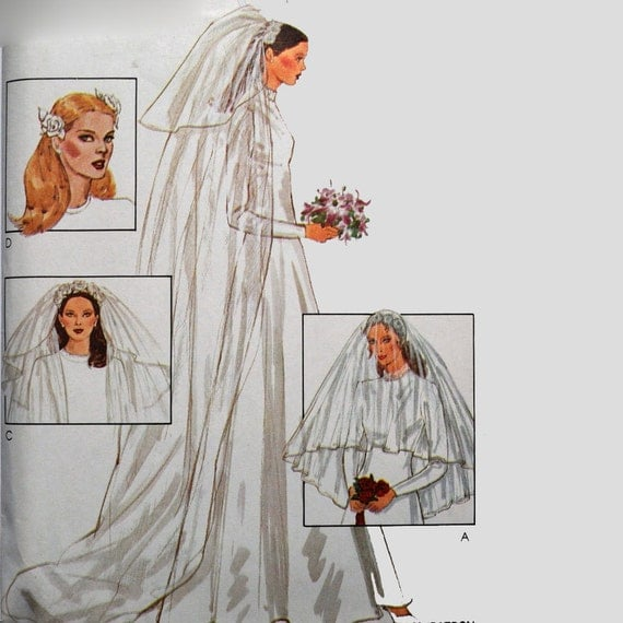 Wedding Veils And Headpieces Patterns: Vintage 70s Bridal Wedding Veil Pattern / Bridal By