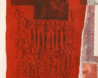 """Robert Rauschenberg """"More Distant Visible Part of the Sea"""" - 1979 - S/N Silkscreen/Collage - Retail 10000 - COA"""