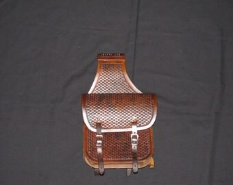 Hand Made Custom Leather Saddle Bags