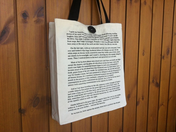 The Great Gatsby Book Tote Bag