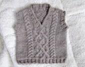 Little Man Vest Knitting Pattern PDF