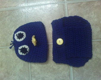 BlueBird hat and diaper cover