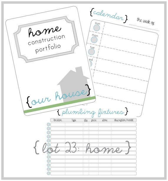 Home construction organizer kit create a house construction for Home construction binder