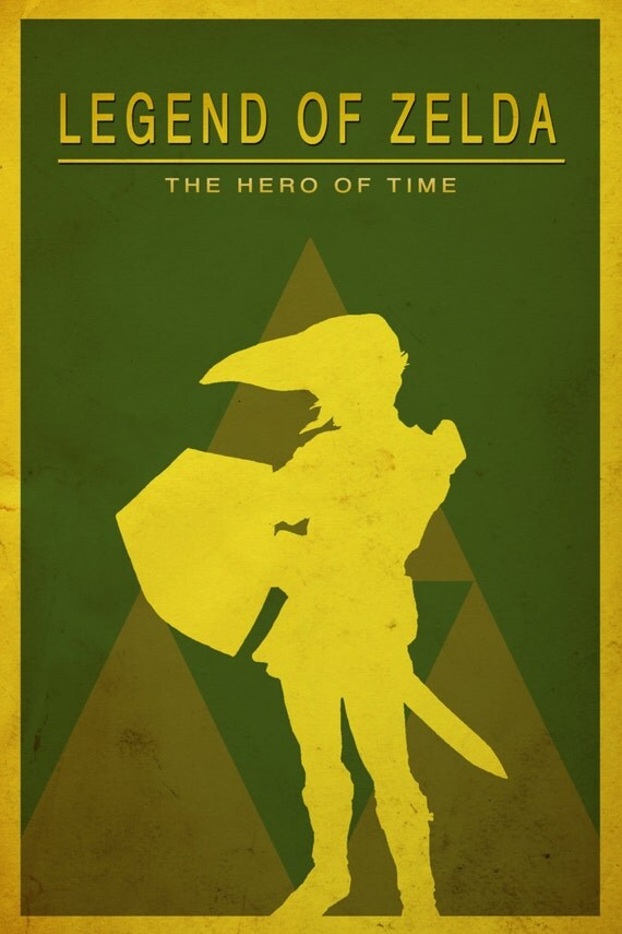 Minimalist Classroom Zelda : Items similar to legend of zelda link minimalist poster on