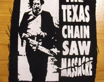 TEXAS CHAINSAW MASSACRE patch horror movie leatherface Free Shipping