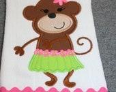 Hula Monkey Burp Cloth