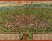 Rome City Plan, Braun and Hogenberg, 1572