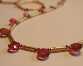 Turmaline Necklace Rose (JK 543)