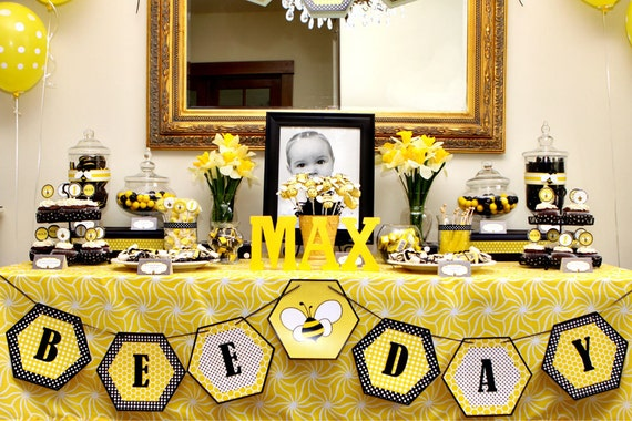 Bumble Bee Day Happy Buzz Honey Beehive First Birthday