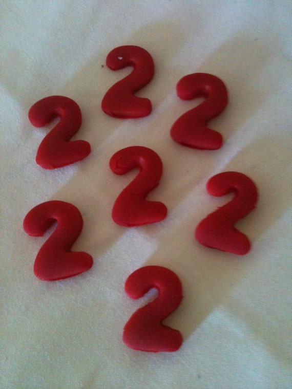 Edible Cake Decorations Numbers : Edible Fondant Cupcake or Cake Topper Number