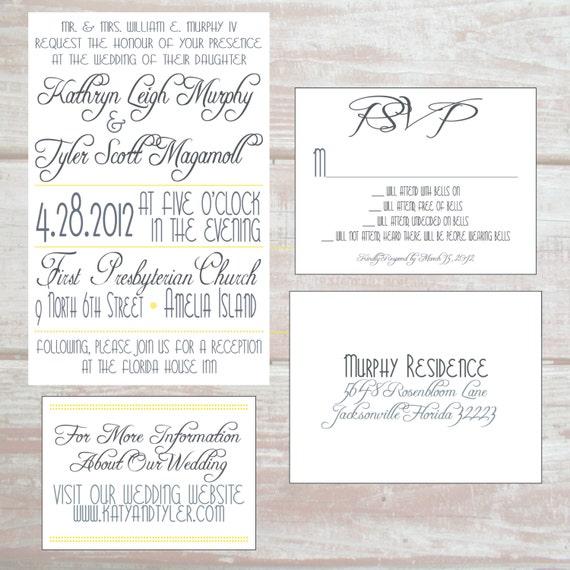 Wedding Invitation Website: Items Similar To Wedding Invitation, Response Card, And