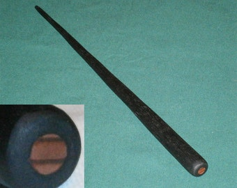 Irish Bog Oak Wand with Giant Redwood Core, Hand Carved From 3000 Year Old Wood
