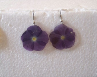 Purple Impatiences Earrings