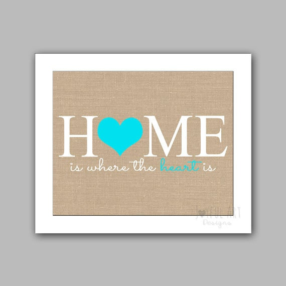home is where the heart is wall art home decor printable. Black Bedroom Furniture Sets. Home Design Ideas