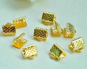 80pcs Gold Plated Fasteners Clasps 8mm XJ033